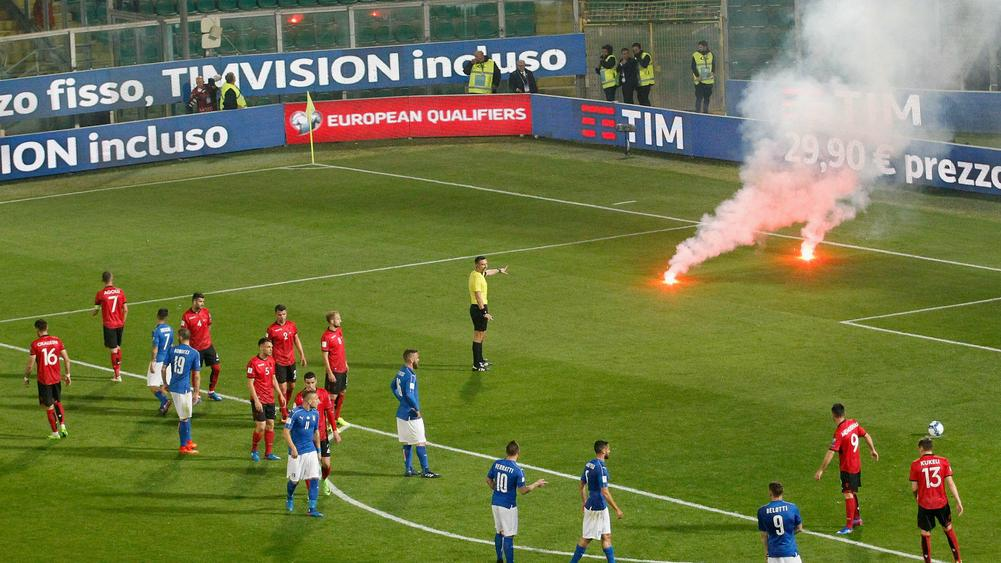 FIFA fines Albania $100000 for fan disorder in Italy