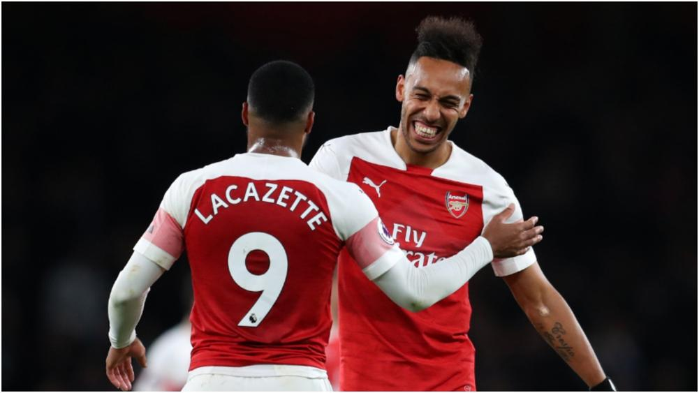 c185b585 Lacazette and Aubameyang striving for 'perfect' partnership