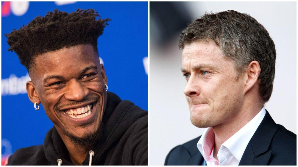 Philadelphia 76ers' Jimmy Butler mocked Manchester United in the aftermath of their 2-0 home defeat against a Nemyar and Edinson Cavani-less Paris Saint-Germain side.