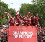 Liverpool parade Champions League trophy to huge crowds
