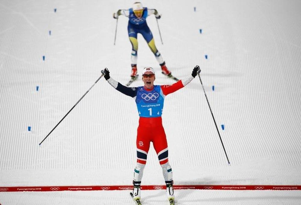 Bjoergen equals Winter Olympics medals record