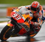 Marquez Fastest On Soaked Day At Valencia