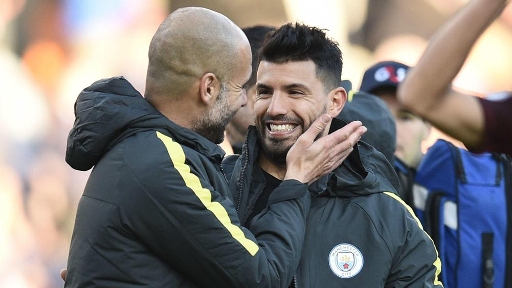 Image result for sergio aguero pep guardiola