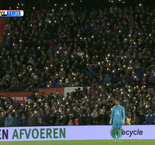 Feyenoord fans light up stadium in tribute to Brad Jones' son