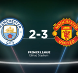 Man City 2-3 Man United - in words and numbers