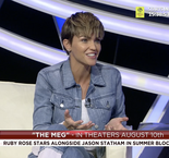 Ruby Rose stopped by The XTRA to talk about The Meg, nutmegs and soccer player tattoos