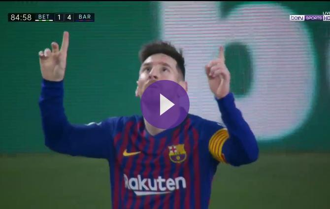 Real Betis 1-4 Barcelona: Messi Completes His Hat-Trick With Masterful Chip