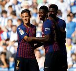 Deflected Dembele Strike Gives Barcelona 2-1 Lead Over Real Sociedad