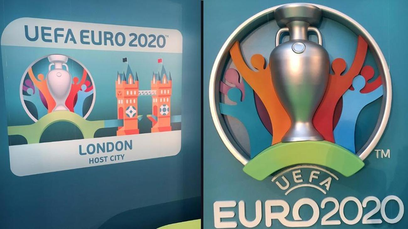 football ceferin unveils euro 2020 logo at launch event football ceferin unveils euro 2020