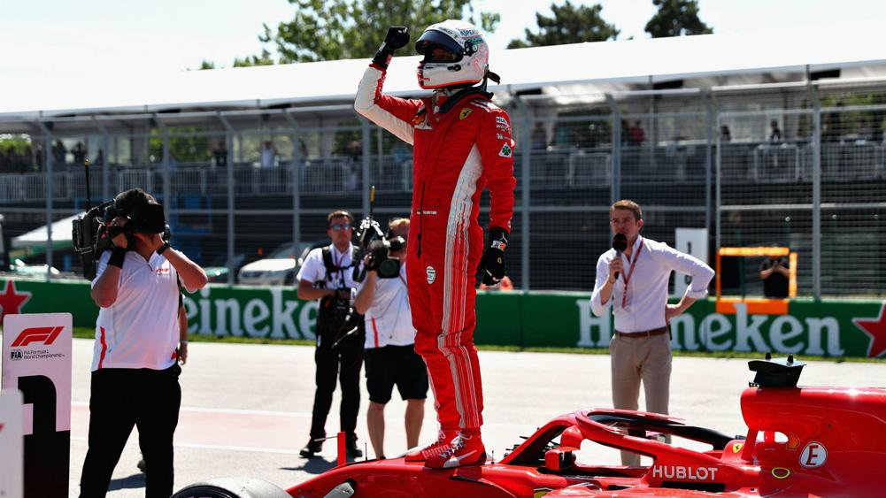 Vettel takes Ferrari's first Canada pole since 2001