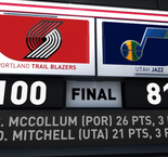 GAME RECAP: Blazers 100, Jazz 81
