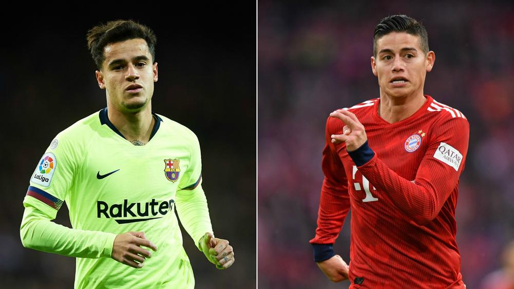 Philippe Coutinho and James Rodriguez - cropped