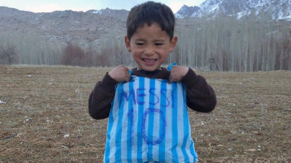 2be4f204e Lionel Messi To Meet Afghan Boy With Homemade Shirt