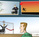 Caricature: Neuer makes a speed recovery