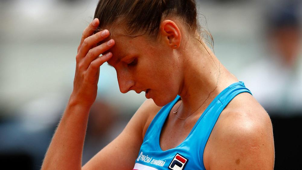 Angry Pliskova damages umpire's chair at Italian Open