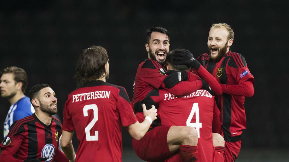 Arsenal get Potter's Ostersund in Europa League
