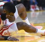 Harden 'bleeding from the eye' but returns against Warriors