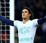 Emotional Cavani brings up 100 amid Chapecoense tributes