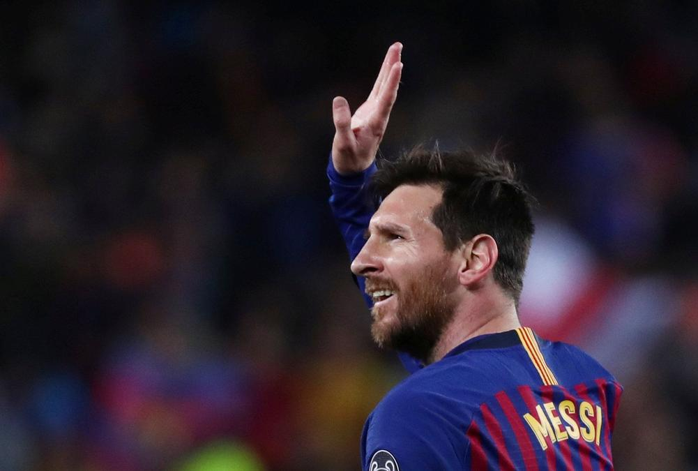 Lionel Messi Barcelona Manchester United Champions League