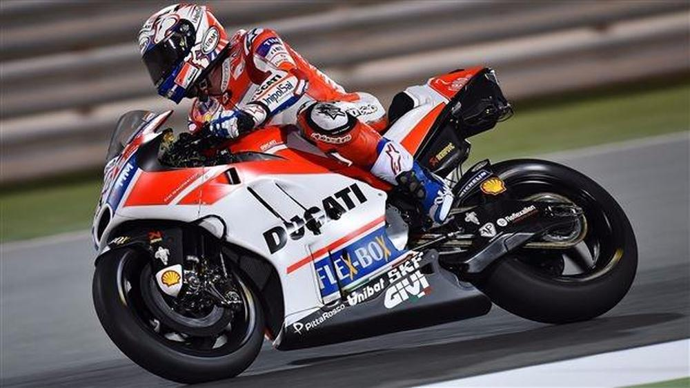 Ducati's Andrea Dovizioso Tops First Night Of MotoGP Test In Qatar