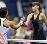US Open: Suarez Navarro ends Sharapova streak after Keys
