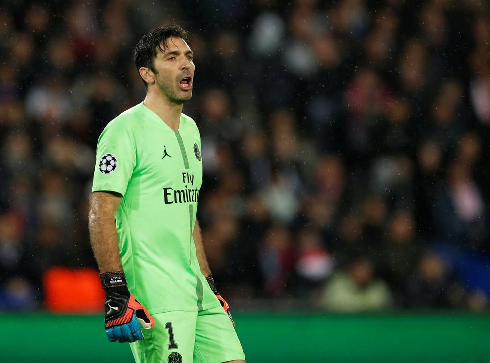 Paris Saint-Germain's Gianluigi Buffon in action during Champions League last 16 second leg clash with Manchester United, March 6, 2019 | beIN SPORTS USA