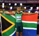 Van Niekerk eager to continue double bid after 400m gold, Bowie withdraws from 200m