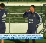 Messi returns to Argentina training