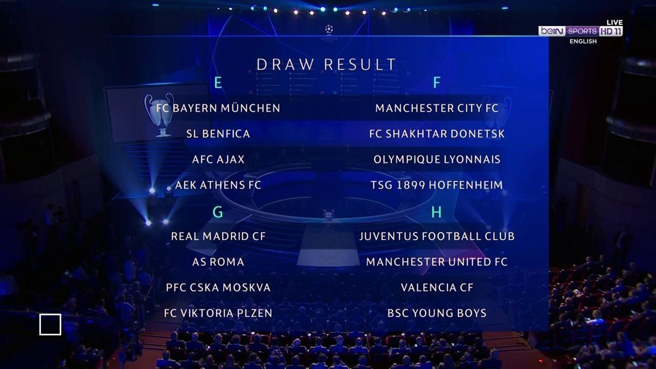 Champions League Draw-Live Updates