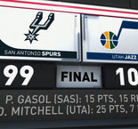 GAME RECAP: Jazz 101, Spurs 99