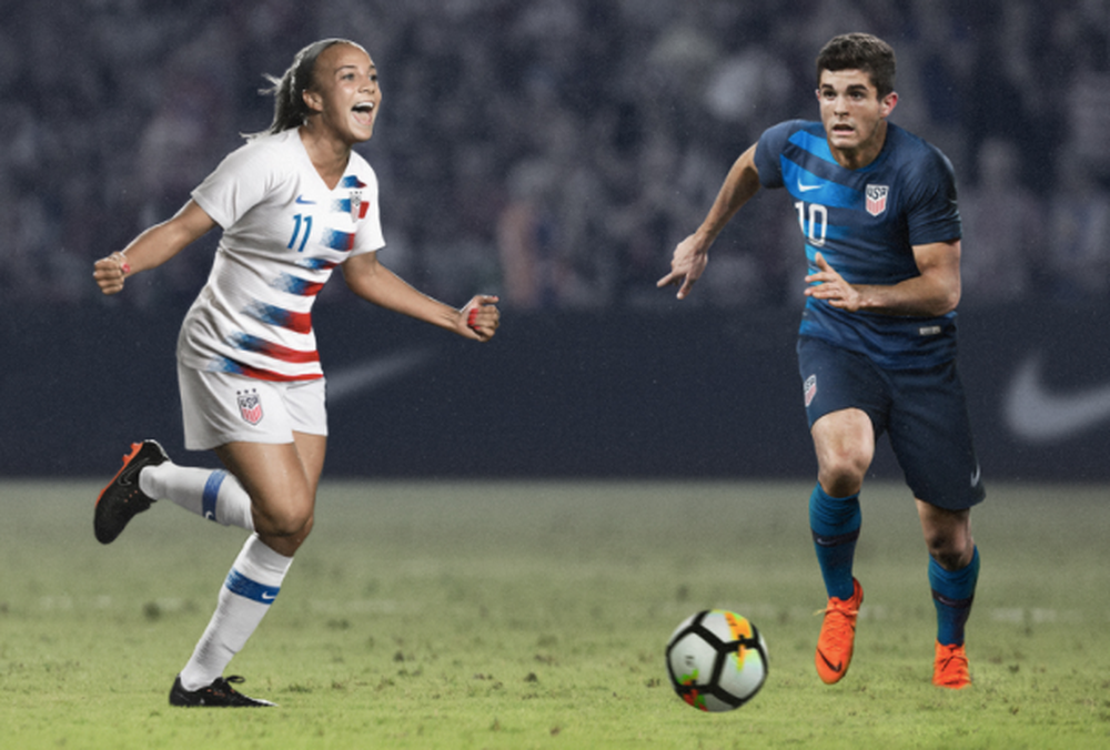 373f5f584 U.S. Soccer Unveils 2018 Uniforms for USMNT and USWNT