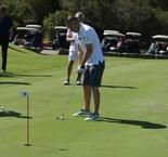 Iniesta takes golf lesson with Rose