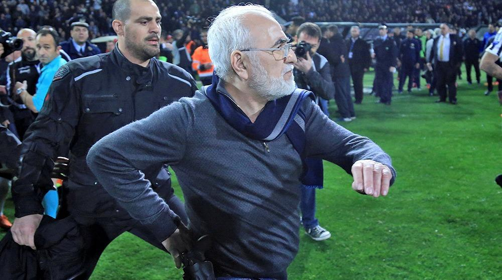 PAOK president banned for three years over gun incident