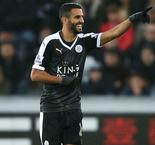 Jamie Vardy Streak Finally Ends as Riyad Mahrez Steals Show with Hat-Trick and Sends Leicester City to Top