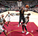 James dominates as Cavs down Celtics to stay alive