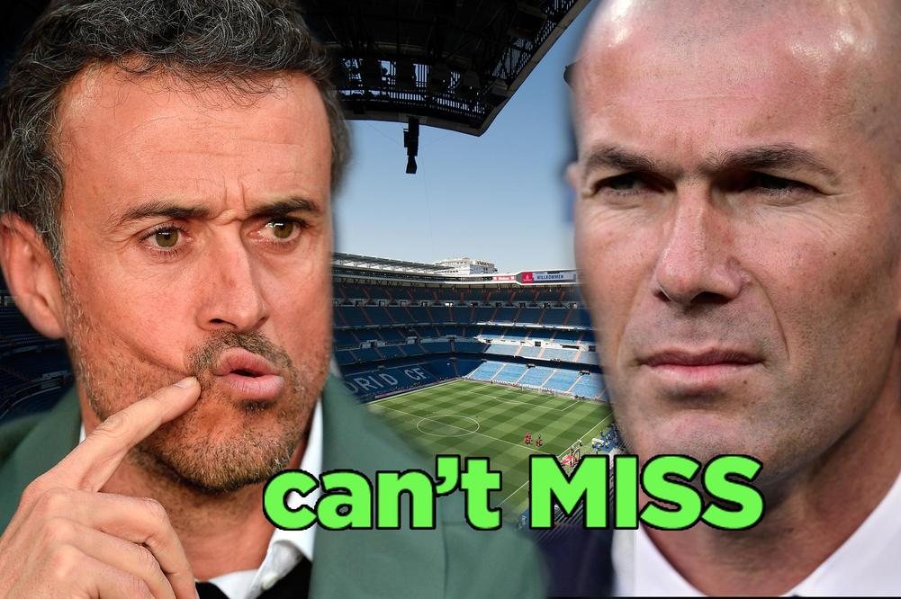 Luis Enrique and Zinedine Zidane