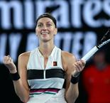Brave Kvitova on brink of fairytale comeback in Melbourne