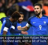 Arsenal's Giroud pleased with Mbappe link-up for France