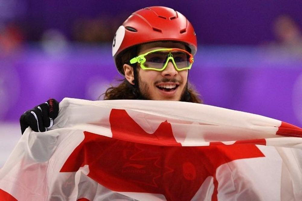John-Henry Krueger wins silver in 1000-meter short-track speedskating