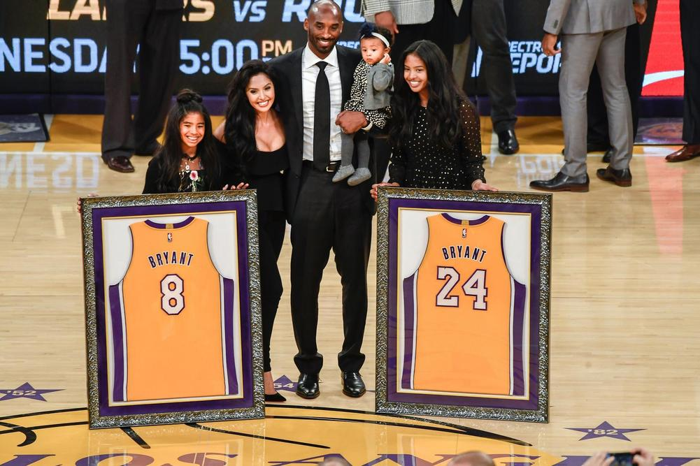 c3a4b2b15 Lakers Honor Koby Bryant With Jersey Retirement Ceremony