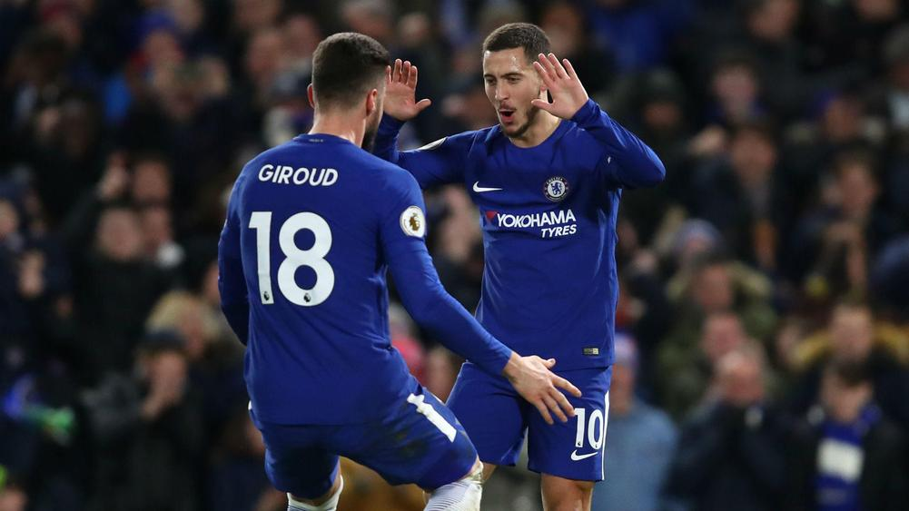 Eden Hazard double gives Chelsea win over West Brom