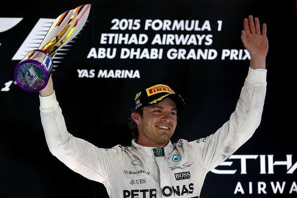 Rosberg ends F1 season on a hat-trick high