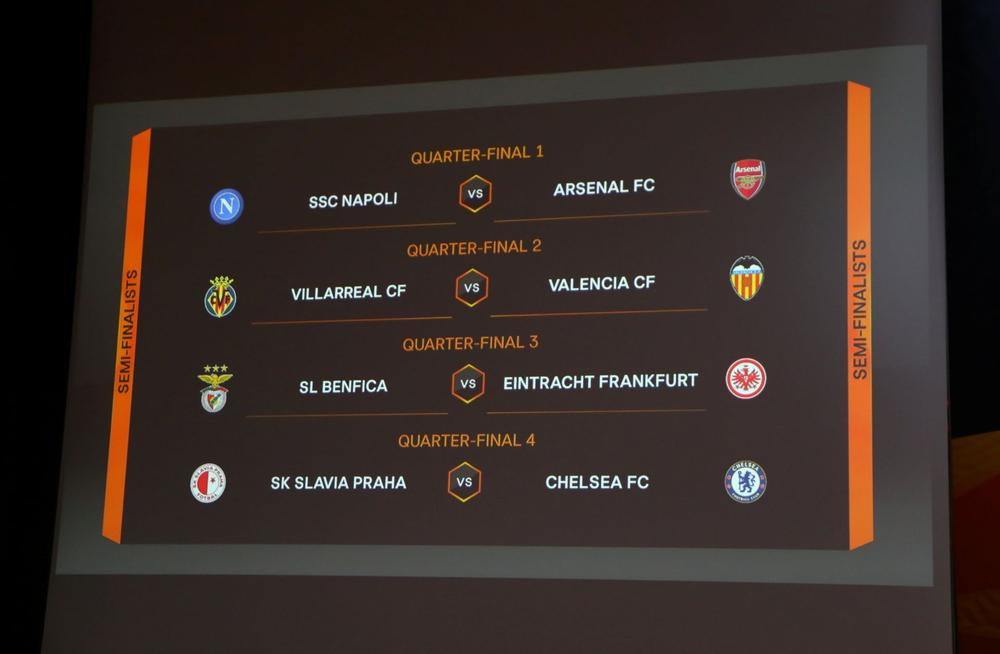 Europa League Quarterfinals And Semifinals Draw