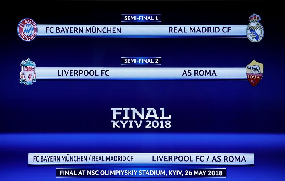 Champions League Semi Final Draw Results