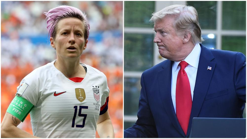 "Megan Rapinoe reminded Donald Trump of his ""incredible responsibility"" as President of the United States during an interview with CNN's Anderson Cooper, amid an ongoing row which endured throughout the 2019 Women's World Cup."