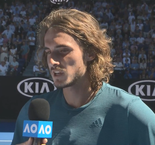 Tsitsipas introduces his entire team/family to the audience