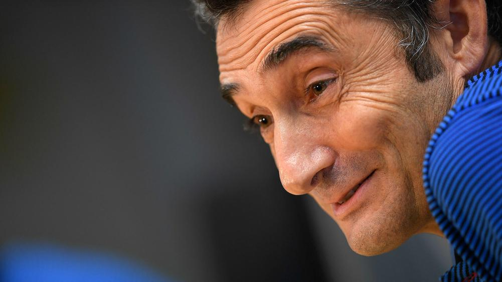 Ernesto Valverde Barcelona press conference