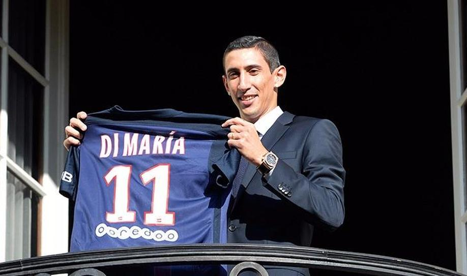 1. Angel Di Maria (63 million euros)