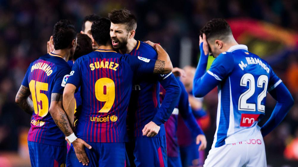 Espanyol lodge complaint against Barcelona's Gerard Pique after derby dispute