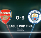 League Cup final - Arsenal 0-3 Manchester City in words and numbers